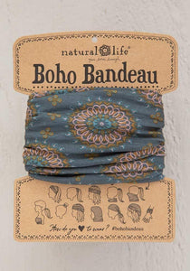 Natural Life Sage Gold Medallion Boho Bandeau - Global Free Style