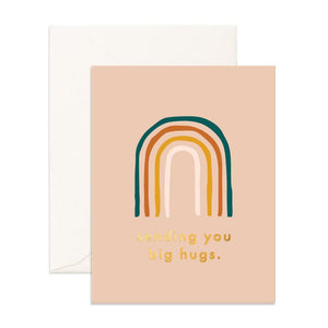 Fox & Fallow Greeting Card Big Hugs Rainbow - Global Free Style