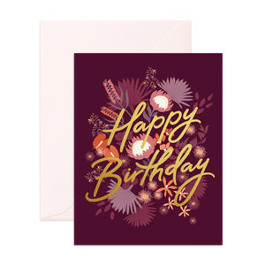 Fox & Fallow Greeting Card Birthday Amaranth - Global Free Style