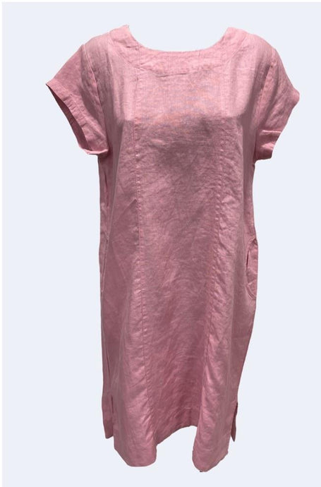 Worthier Annabelle Linen Dress Pink - Global Free Style