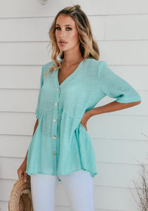 Sanctum The Label Newport Shirt Turquoise - Global Free Style