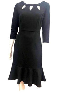 Sambara Kimberly 3/4 Sleeve Dress Black - Global Free Style