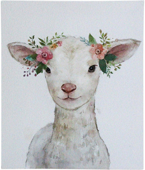 Lavida Wall Art Mini Lamb Flowers - Global Free Style