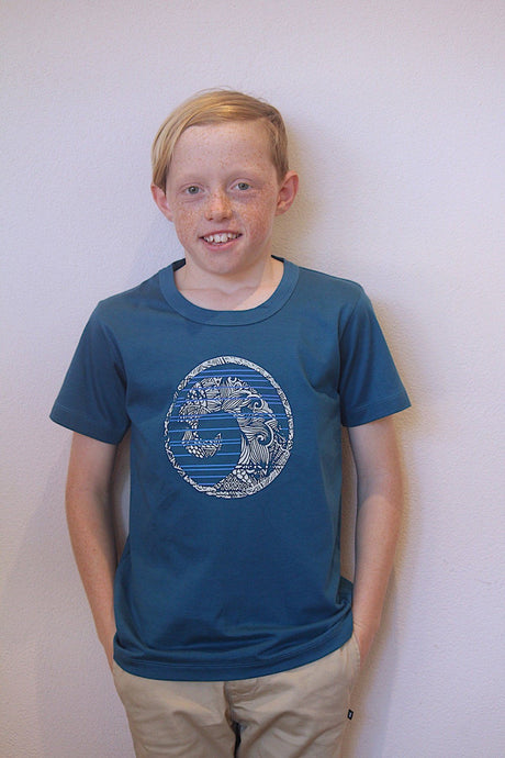 Skumi Boys T Shirt Wave of the Day Blue - Global Free Style