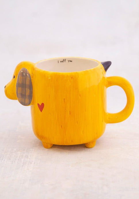 Natural Life Folk Mug Yellow Dog - Global Free Style