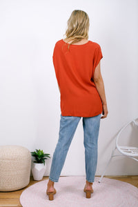 Boho Jane Scoop Top Orange Rust - Global Free Style