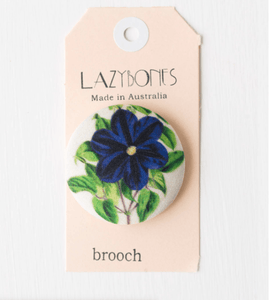 Lazybones Button Brooch Morning Glory - Global Free Style