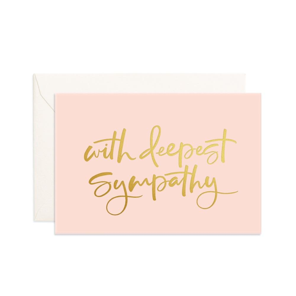 Fox & Fallow Greeting Card With Deepest Sympathy (Mini) - Global Free Style