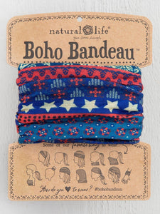 Natural Life Boho Bandeau Red/ White/ Blue Americana - Global Free Style