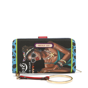 Nicole Lee Fashion Print Wrislet Wallet Latoya Loves Who She Is - Global Free Style