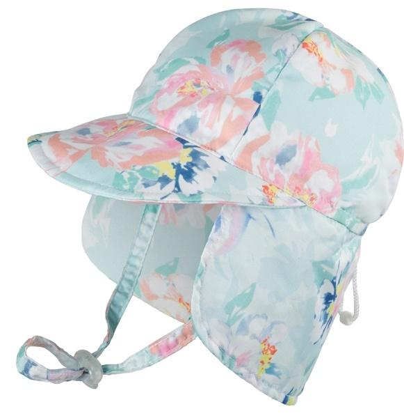 Baby Millymook Girls Legionnaire Hat Peony Mint - Global Free Style