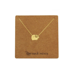 Ear Mints Brushed Sheep Short Necklace 3 Colours - Global Free Style