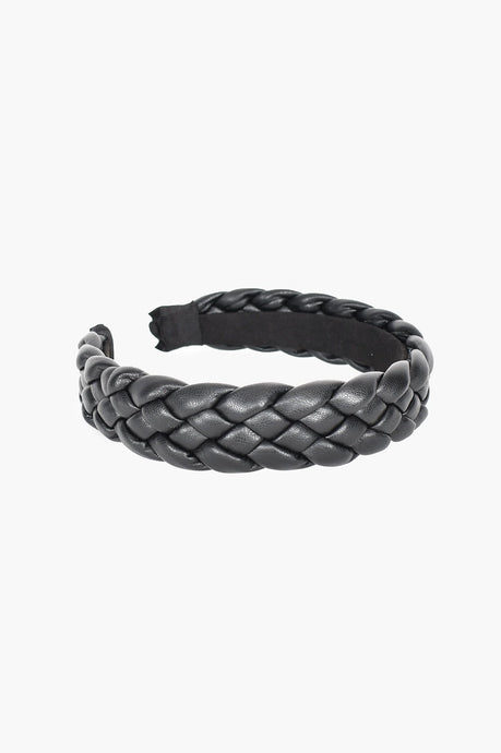 Adorne Bianca Plait Headband Black - Global Free Style