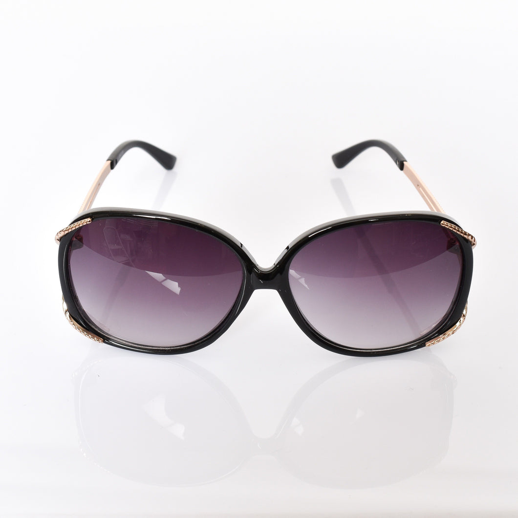 Adorne Goldie Fashion Sunglasses Black - Global Free Style