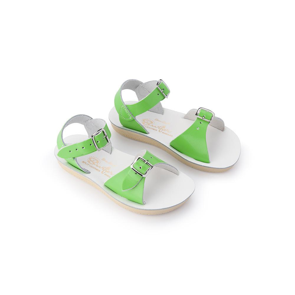 Salt Water Sun Sandal Surfer Lime Child - Global Free Style