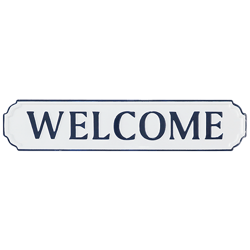 DWBH Welcome Wall Sign Blue - Global Free Style