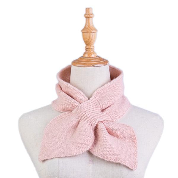 Ameise Scarf Neck Plush Tie Rose Pink - Global Free Style