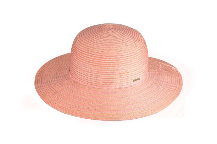 Millymook Girls Wide Brim Hat Grace Sunset Coral - Global Free Style