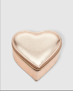 Louenhide Heart Jewellery Box Metallic Gold - Global Free Style