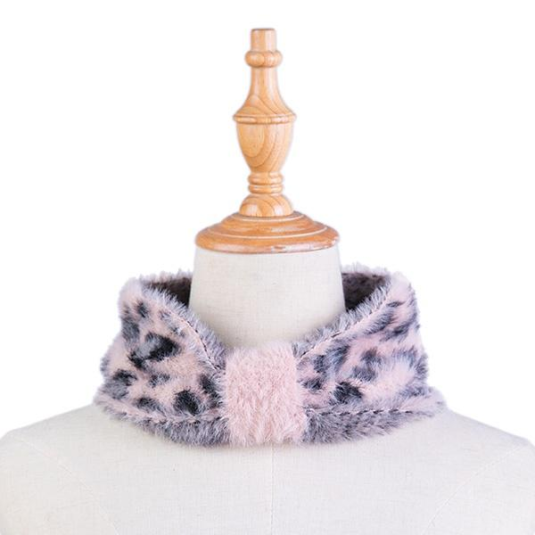Ameise Neck Warmer / Headband Monica Plush Pink Leopard - Global Free Style