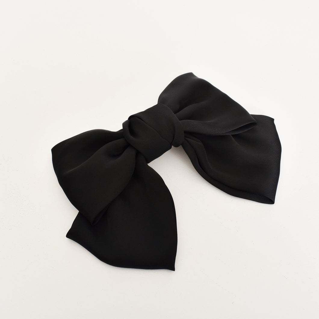 Adorne Oversized Bow Hair Clip Black - Global Free Style