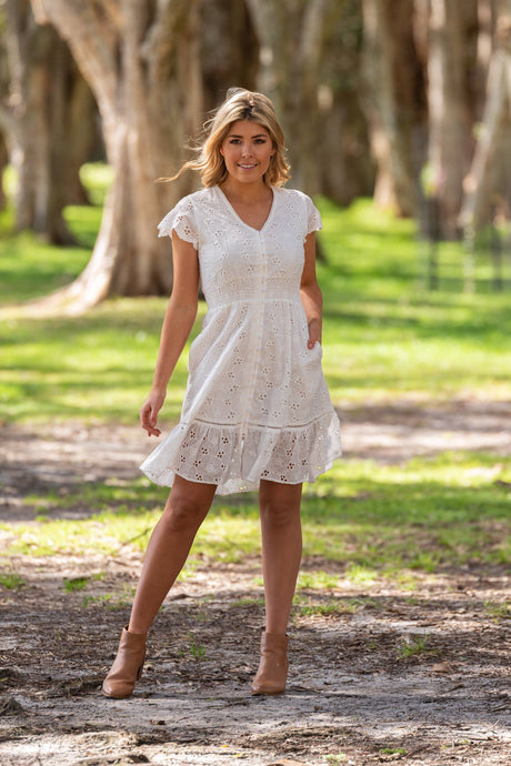 Boho Eso Broderie Dress - Global Free Style