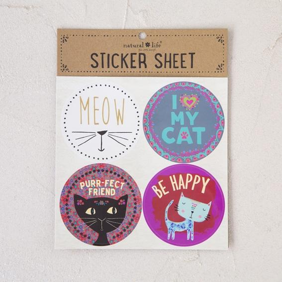 Natural Life Sticker Sheet Cat - Global Free Style