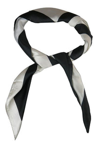 Morgan & Taylor Justine Scarf Black White - Global Free Style
