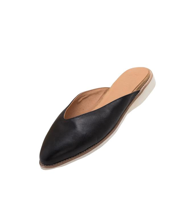 Rollie Shoes - Mule Madison Deep V Cut Black - Global Free Style