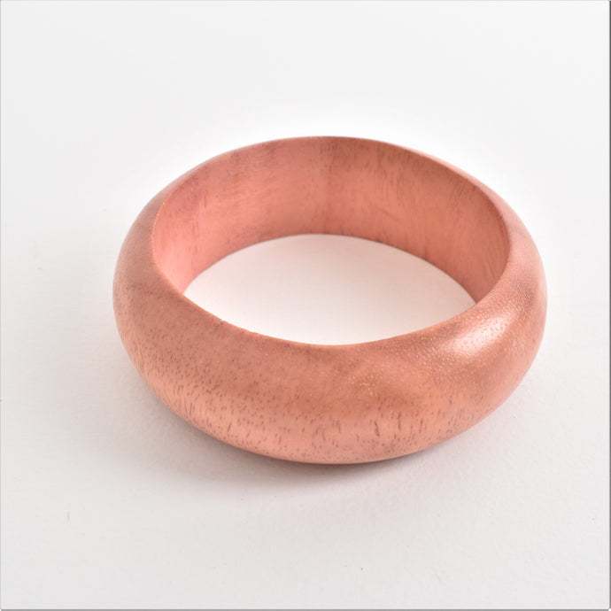 Adorne Smooth Wide Timber Bangle Pink - Global Free Style