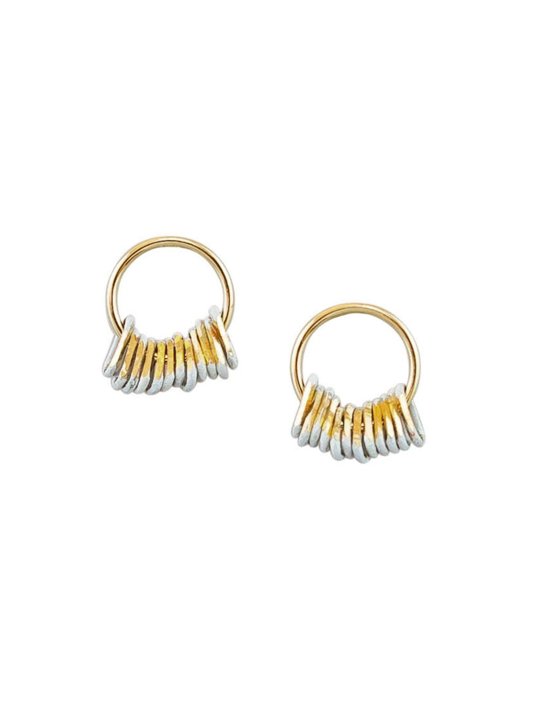 Tiger Tree Mini Me's Earrings Gold and White - Global Free Style