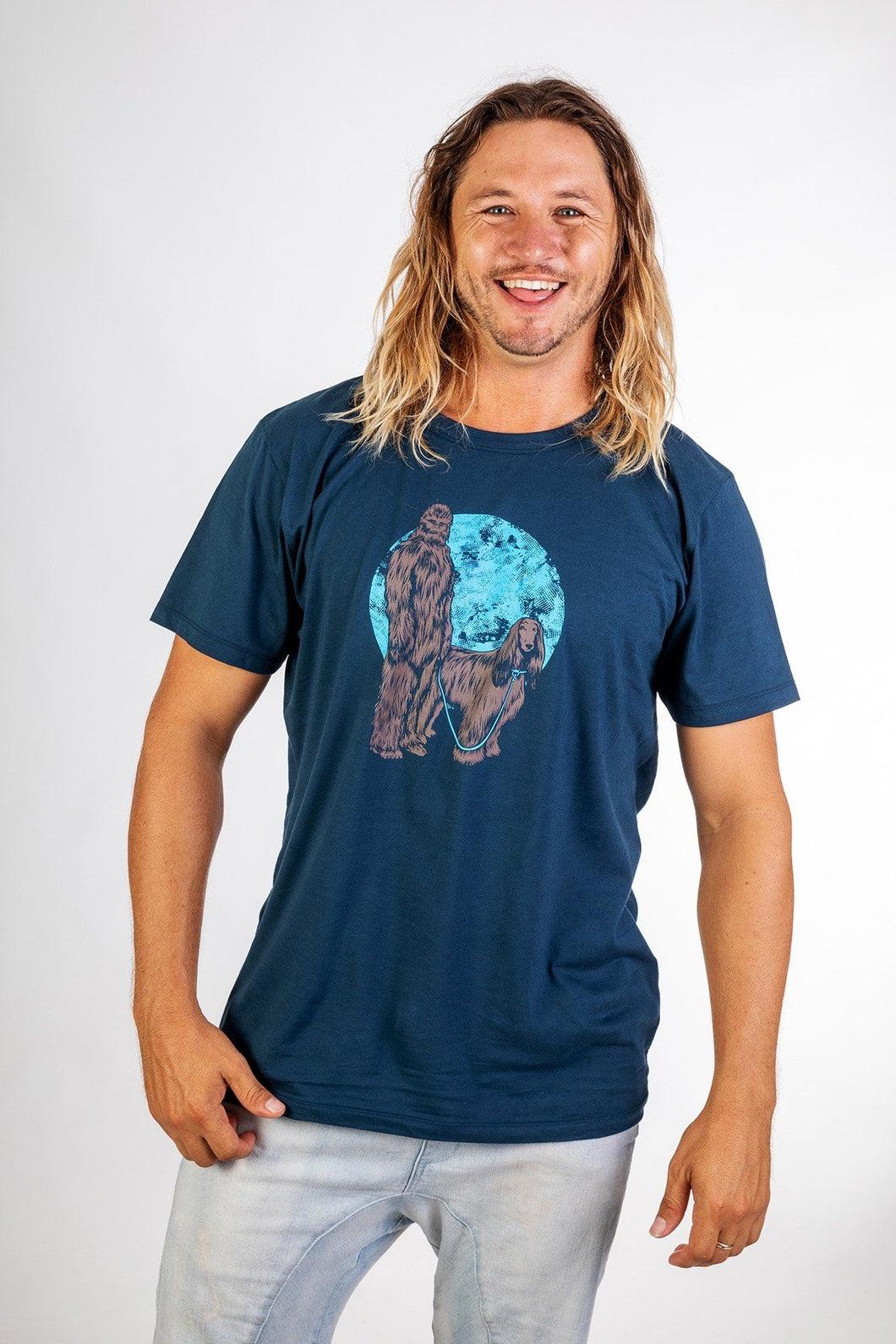 Skumi Mens T shirt Chewbacca Navy - Global Free Style