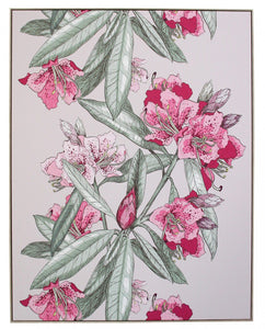 Lavida Framed Canvas Blush Oleander - Global Free Style