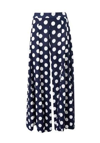 Label of Love Megan Spotty Pants Navy - Global Free Style