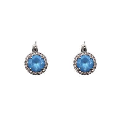 Fabienne Crystal Circle Drop Earrings Silver - Global Free Style