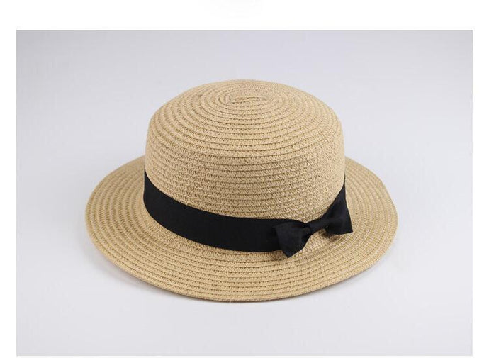 Bazaar  Boater Hat Short Brim Multiple Colours - Global Free Style