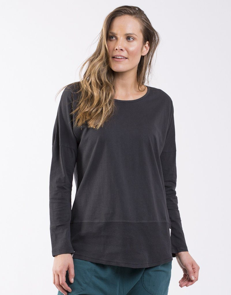 Elm Fundamental Rib Long Sleeve Tee Black - Global Free Style