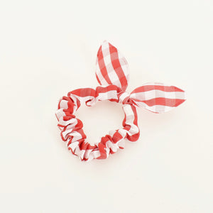 Adorne Audrey Gingham Mini Scrunchie Red - Global Free Style