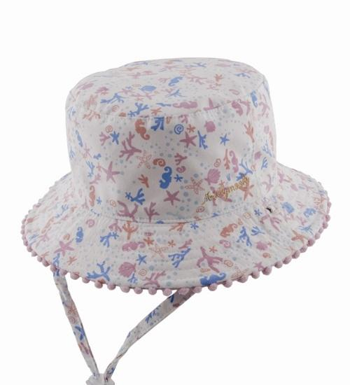 Baby Millymook Baby Girls Bucket Hat Shoreline Pink - Global Free Style