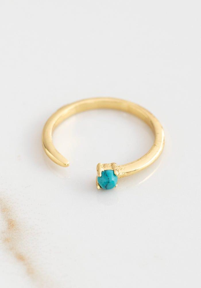 Natural Life Adjustable Ring Turquoise - Global Free Style