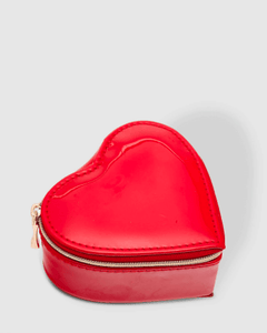 Louenhide Heart Jewellery Box Patent Red - Global Free Style
