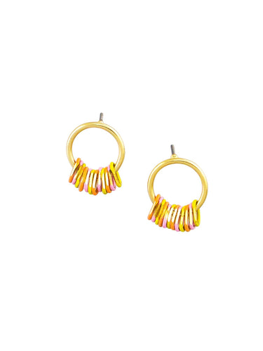 Tiger Tree Gold Multi Mini Me's Earrings - Global Free Style