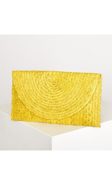 Adorne Clutch  Classic Straw Flap over  2 Colours - Global Free Style