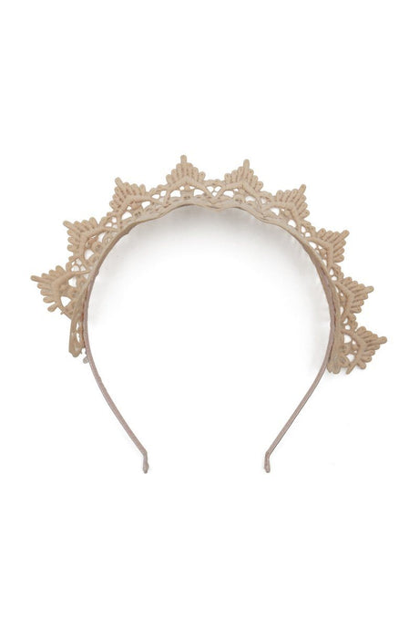 Morgan & Taylor Lace Fascinator Headband - Nude - Global Free Style