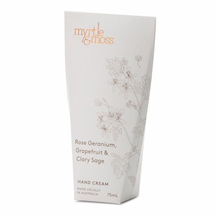 Myrtle & Moss Rose Geranium, Grapefruit & Clary Sage Hand Cream 75mL - Global Free Style