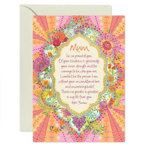 Intrinsic Mum Blooms Greeting Card - Global Free Style
