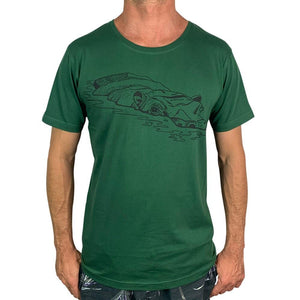 Monster Threads Mens T Shirt Hippo Forest Green - Global Free Style