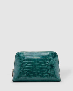 Louenhide Doris Croc Cosmetic Case Green - Global Free Style
