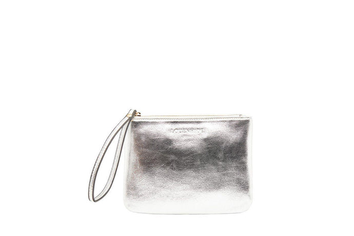 Louenhide Wikki Medium Foil Silver Clutch - Global Free Style