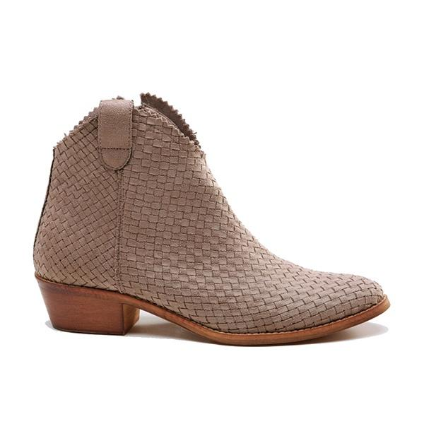 Ameise Shoe Ankle Boot Side Zip Haren Taupe Brown - Global Free Style